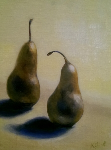 Kristie_Bernard_Two_Pears_Oil_9x12