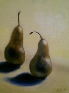 Kristie_Bernard_Two_Pears_Oil_9x12